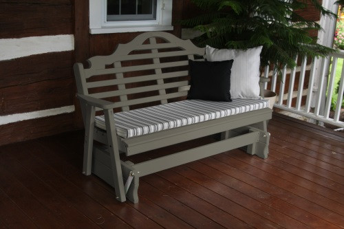 4' Marlboro Yellow Pine Glider - Olive Gray w/ Cushion