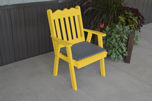 Royal English Yellow Pine Dining Chair   Canary Yellow W/ Cushion