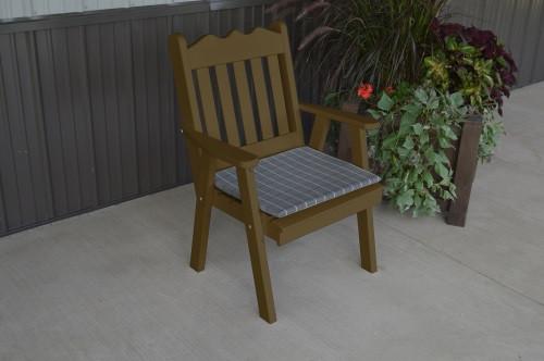 Royal English Yellow Pine Dining Chair - Coffee w/ Cushion