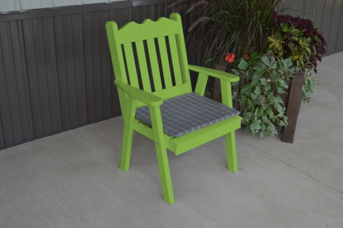 Royal English Yellow Pine Dining Chair - Lime Green w/ Cushion