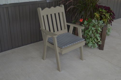 Royal English Yellow Pine Dining Chair - Olive Gray w/ Cushion