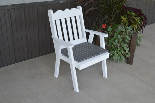 Royal English Yellow Pine Dining Chair - White w/ Cushion