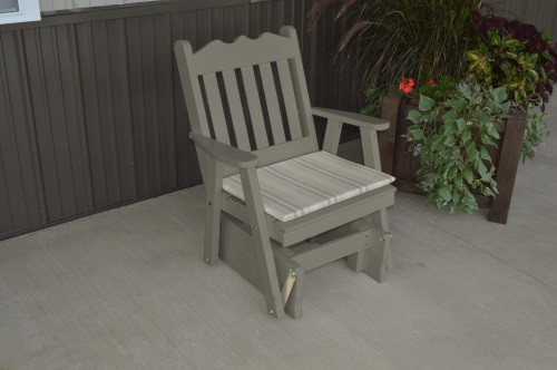 Royal English Yellow Pine Glider Chair - Olive Gray w/ Cushion