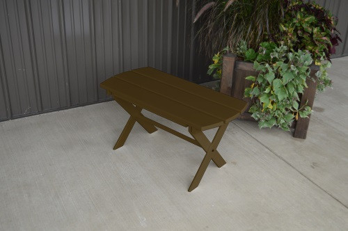 Folding Coffee Yellow Pine Table - Coffee
