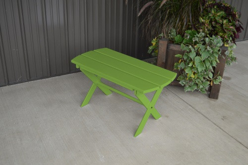 Folding Coffee Yellow Pine Table - Lime Green