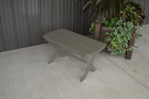 Folding Coffee Yellow Pine Table - Olive Gray