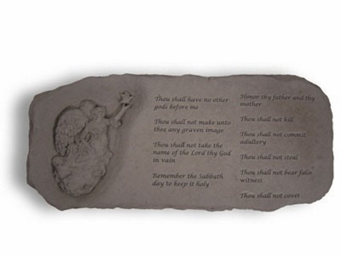 The Ten Commandments Decorative Garden Bench
