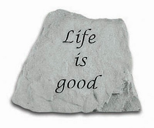 Life is Good Decorative Garden Stone