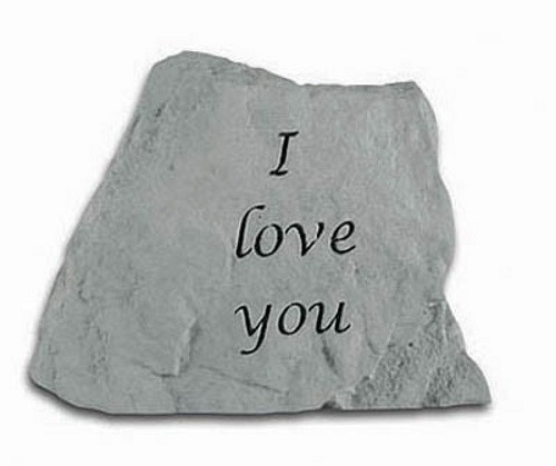 I Love You Decorative Garden Stone