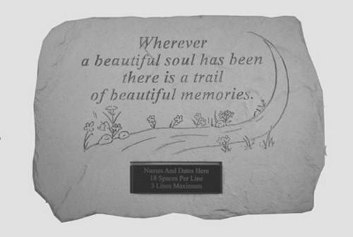 Whenever a beautiful soul...Memorial Garden Stone