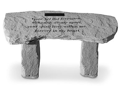 Gone Yet Not Forgotten...Memorial Garden Bench