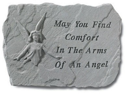 May you find comfort...Memorial Garden Stone w/ Angel