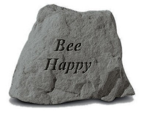 Bee Happy Decorative Garden Stone