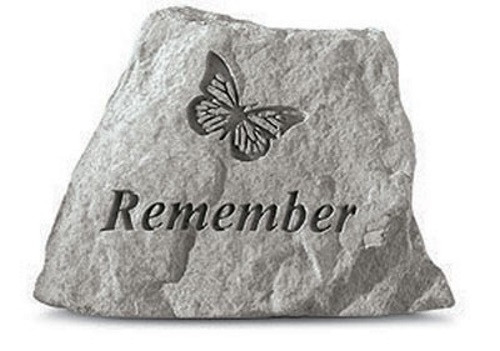 Remember w/ butterfly Decorative Garden Stone