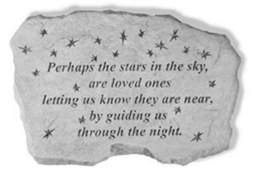Perhaps the Stars in the Sky...Memorial Garden Stone w/ Stars