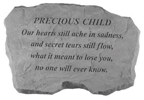 Our hearts still ache in sadness...Memorial Garden Stone - Precious Child