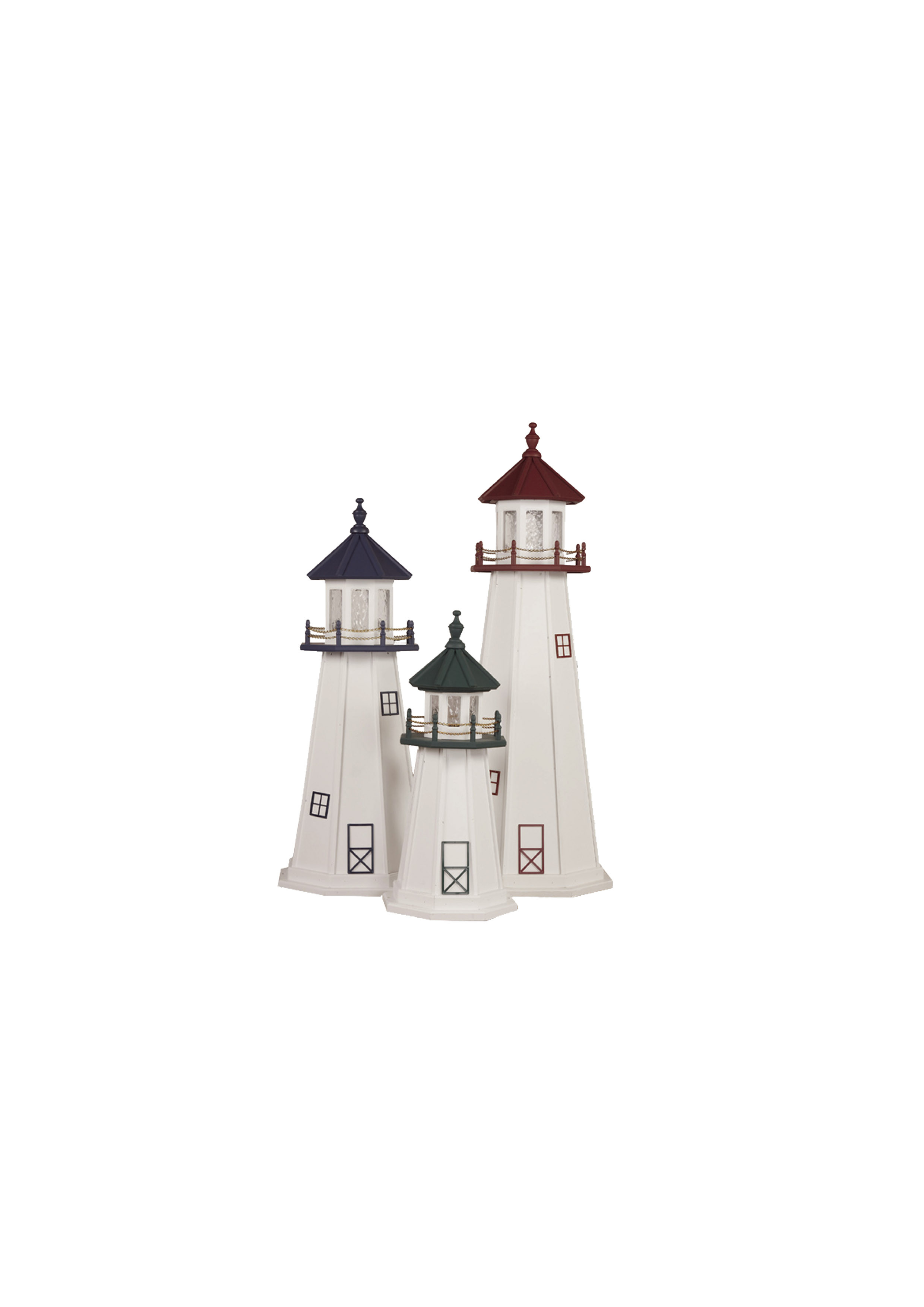 Amish Crafted Wood Garden Lighthouse - Cape Cod & Cape Florida Group