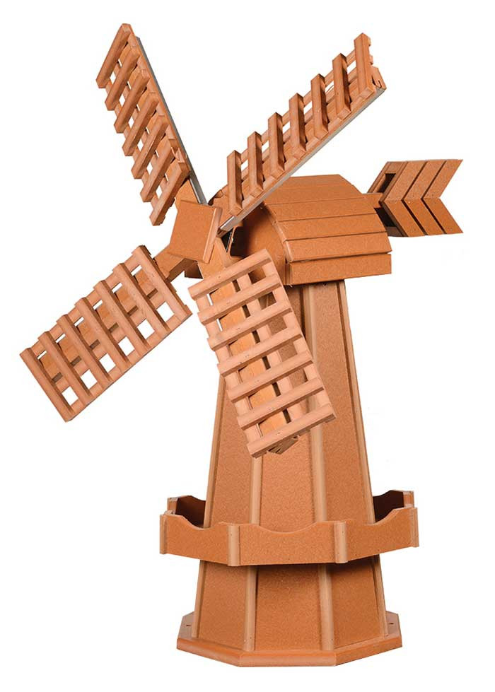 Medium Poly Garden Windmill - Cedar