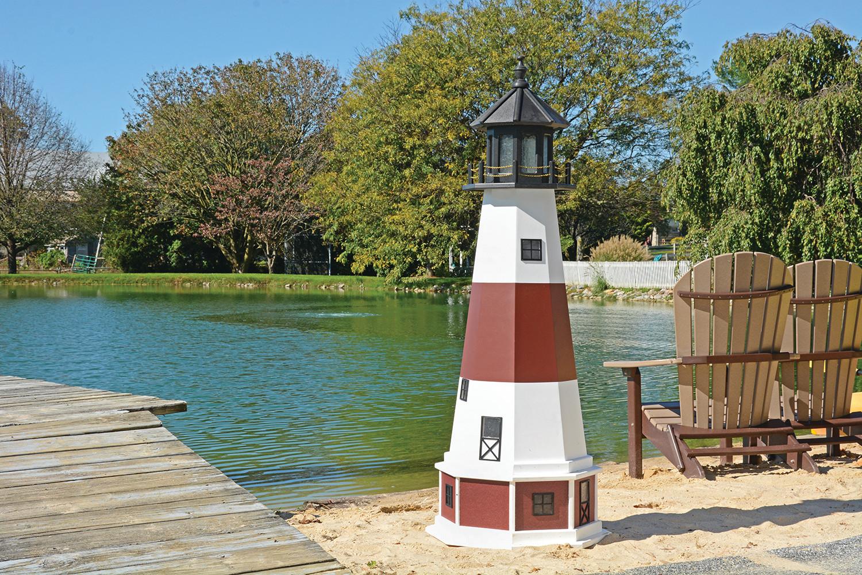 5' Montauk Polywood Lighthouse with Base