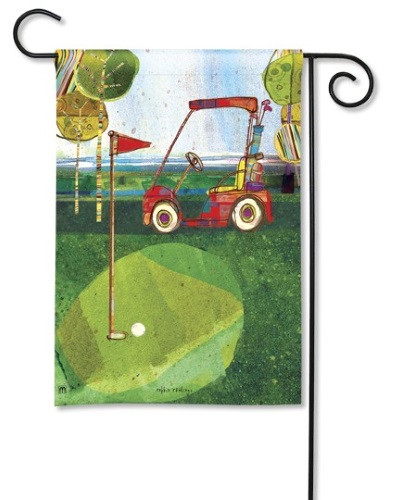 Par for the Course Garden Flag