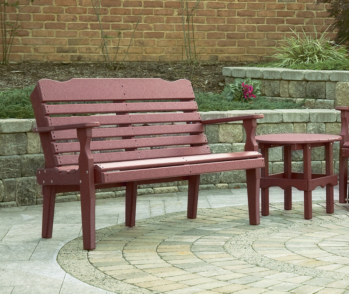 Poly West Chester Bench - Burgundy