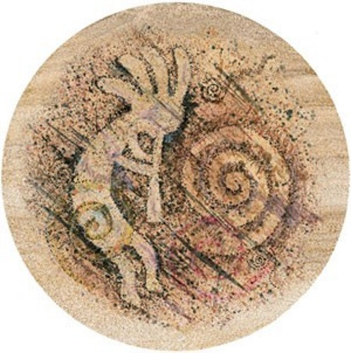 Stylized Kokopelli Coaster Set
