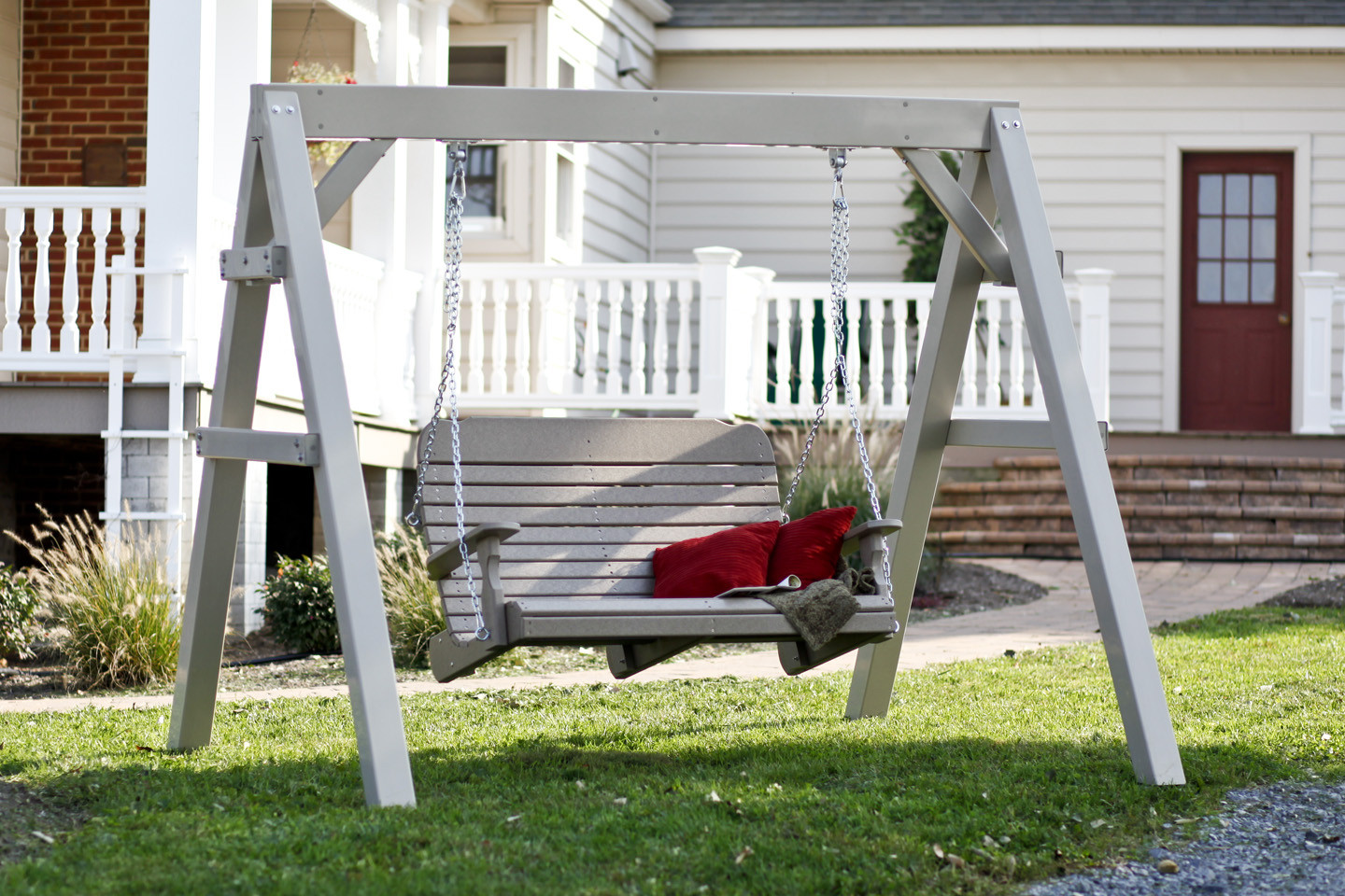 4' Easy Porch Swing - Shown on A-Frame (sold separately) - Weatherwood