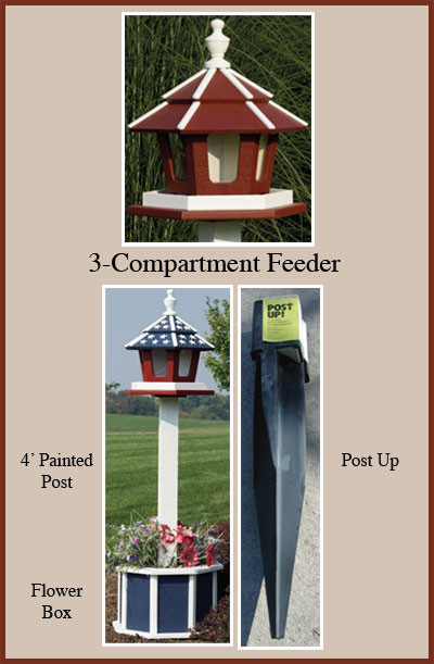 "Options 24"" Post Up & 4' Painted Post"
