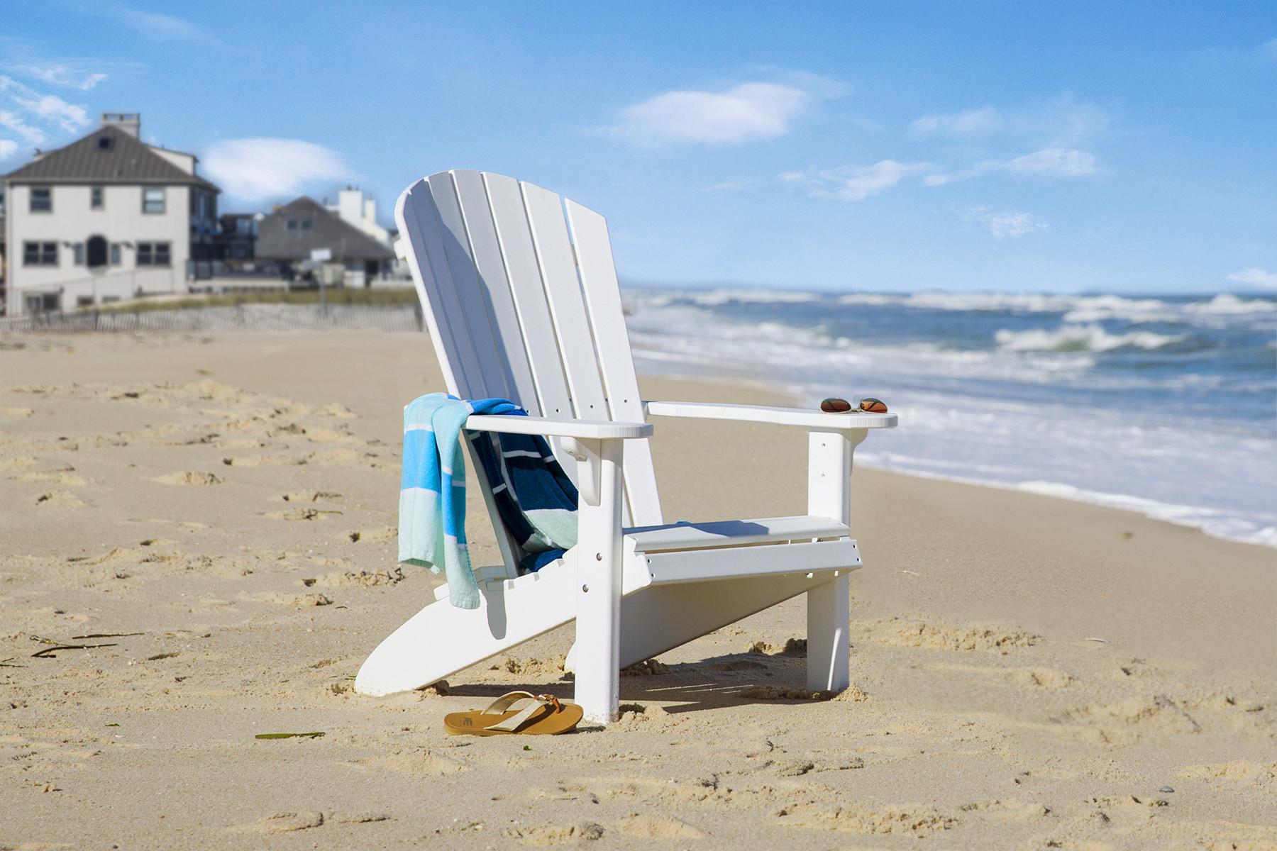 Fan Back Polywood Adirondack Chair - White