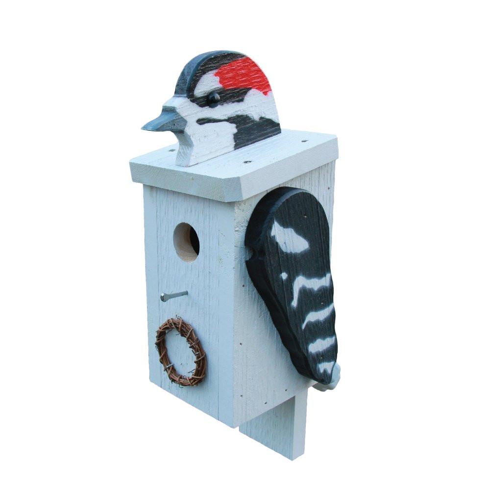 Downy Woodpecker Birdhouse