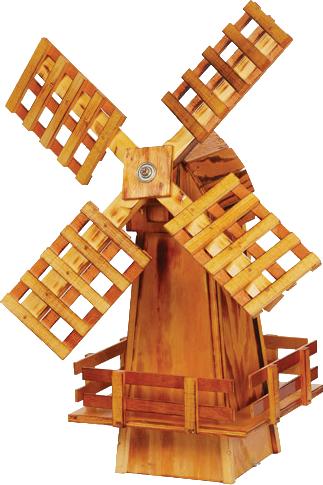 Small Wooden Garden Windmill