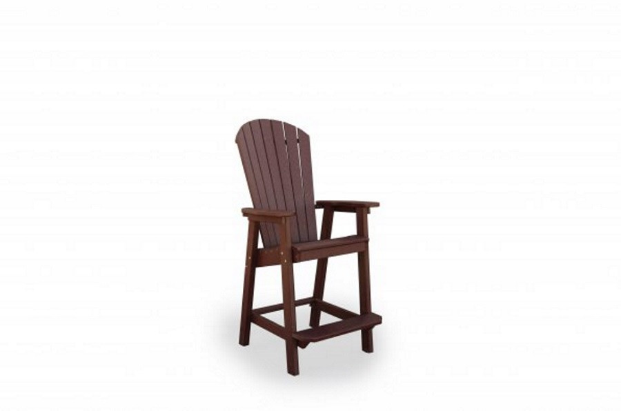 Great Bay Poly Bar Chair - Cherrywood