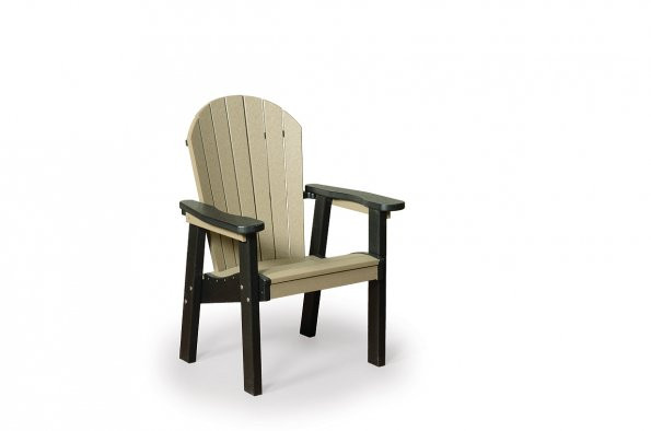 Great Bay Poly Chair - Weatherwood & Black