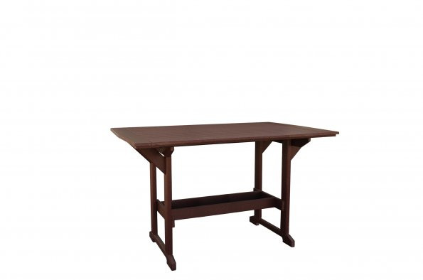 """43"""" x 60"""" Great Bay Poly Bar Table - Brown"""
