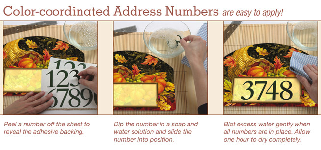 Instructions on putting address numbers on.