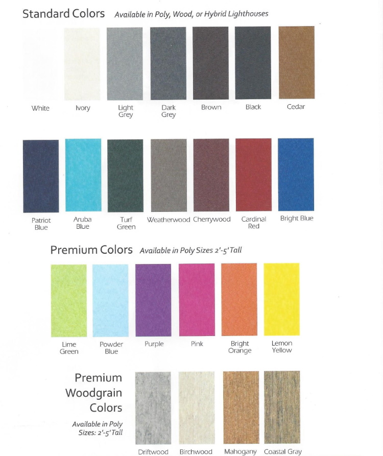 BD 2020 Poly Color Chart