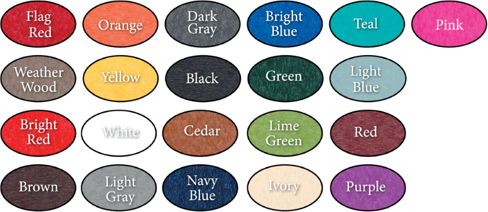 Beaver Dam Poly Color Chart