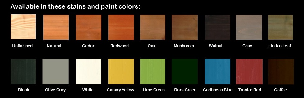 A & L Woodworking Pine Colors
