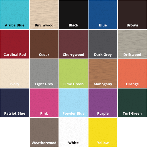 Beaver Dam Poly Color Chart 2019